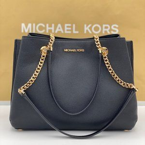 Michael Kors Teagen Satchel Chain Shoulder Bag